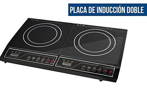 PLACA DE INDUCCIÓN DOBLE Dos fuegos Potencia 3800 W