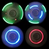 HAIL-SADES Prime Fidget Spinner with LED lights and Bluetooth Speaker best cool light up double sided toy with all black case and charger