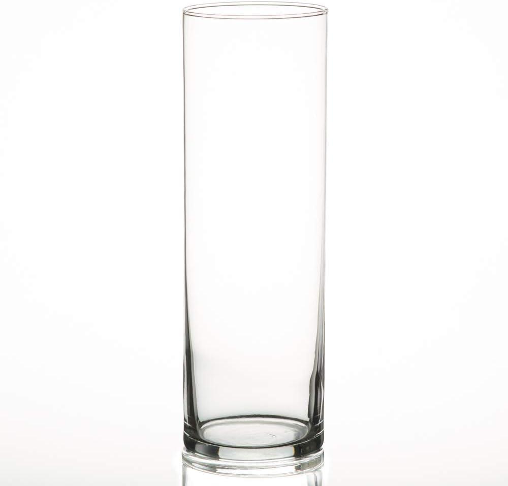 """Eastland Cylinder Vases 10.5"""" Set of 12"""