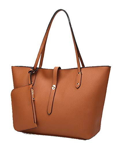 - Hycurey Satchel Purses and Handbags for Women Large Shoulder Tote Bags with Wallets Brown