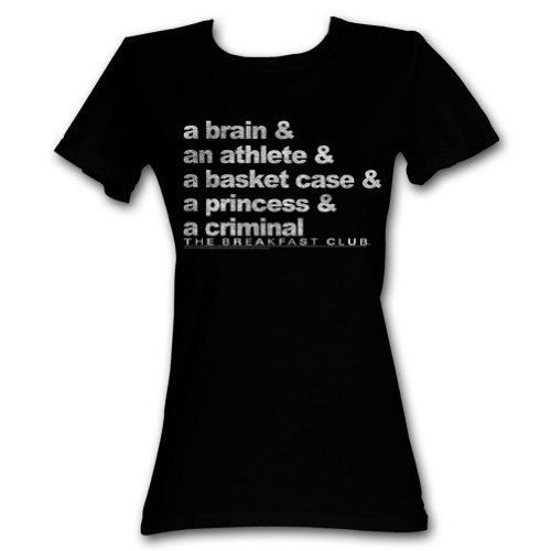 Breakfast Club Comedy Drama Brain Athlete Princess Criminal Black Ladies T-Shirt