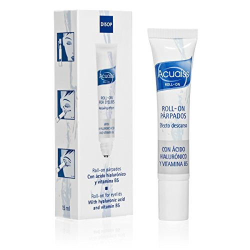 Acuaiss Eye Roller Moisturizer for Puffy Tired Eyelids with Hyaluronic Acid & Vitamin B5. Refreshing Cooling Roll-On for Under the Eye - 0.34 Fl Oz - Eyelid Gel