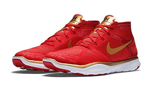 Nike Free Tåg Instinkt Hart Tränare Skor Total Crimson / Sport Röd-svart-metalliskt Guld