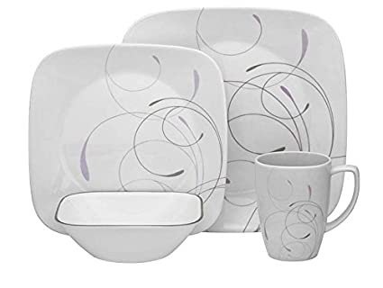 Corelle 1106618 Square Dinnerware Set (16-Piece)  sc 1 st  Amazon.com & Amazon.com | Corelle 1106618 Square Dinnerware Set (16-Piece ...