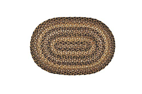 IHF Home Decor Meadow Table Placemats Rug for Kitchen, Dinner Tables, Living Room, Office, Indoor, Outdoor - Oval Shaped Jute Fiber Rugs 13