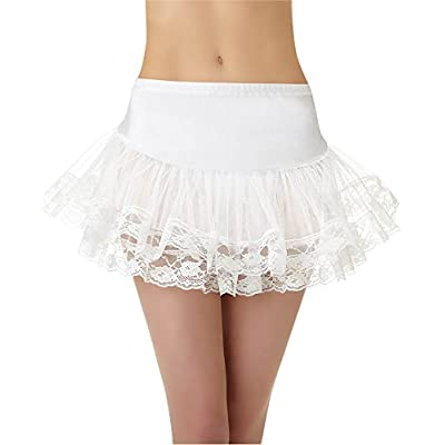White Lace Petticoat - Adult Standard: Toys & Games