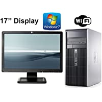HP Computer Tower Bundle - Intel Core 2 Duo 2.66GHz - New 4GB RAM - 2TB HDD - with 17(Brands Vary) Monitor - Windows 7 - WiFi - (Certified Reconditioned)