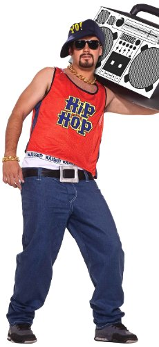 Forum Novelties Men's Hip Hop Home Boy 80's Costume, Multicolor, Standard (Best Mens 80's Costume)