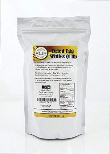 1 lb (16oz) Dried Egg Whites (Non-GMO, Pasteurized, Made in USA, 1 Ingredient no additives, Produced from the Freshest of Eggs)