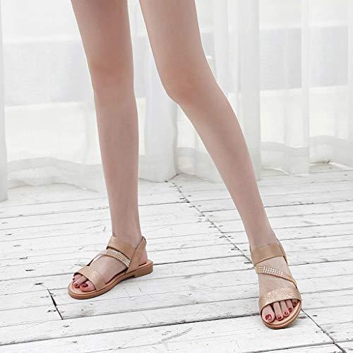 Donna Scarpe Pantofole Eleganti Donne Cinturino Signore Casual Estate Meibax Romana Sexy Caviglia Oro Con Boemia Sandali Alla 05wHq