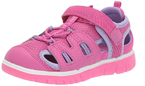 Stride Rite baby-girls River Sandal, pink 6.5 M US Toddler