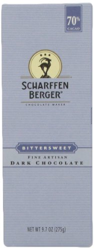 - SCHARFEEN BERGER Artisan Dark Chocolate Bars, Bittersweet, 9.7 Ounce