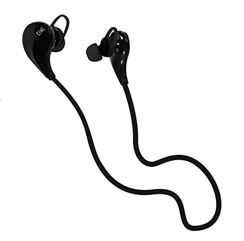 PojoTech Sport Running Bluetooth V4.1 Wireless Headset with Water-proof and Noise Cancelling (black)