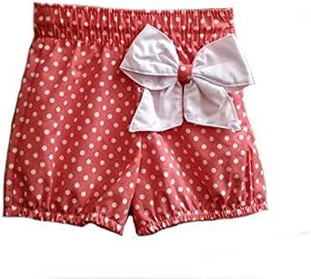 Pantalones Cortos para Niñas de 9 Meses a 8 Años | Shorts para Bebé Fabricados en España | Pantalón Casual con Lazo de Popelin | Fabricado en España: Amazon.es: Ropa y accesorios