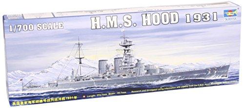 Hms Hood Battleship - Trumpeter 1/700 HMS Hood British Battleship 1931 Model Kit