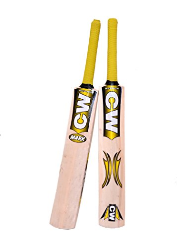 C&W Junior Cricket World Genuine Premium Quality Perfect Rubber/Tennis Ball Kashmir Willow Cricket Bat Size No.5 Best For 9-10 Yr Boys/Kid/Child Full Short Handle Mix Cane Free Bat Case Cover
