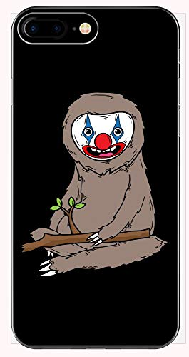 Sloth Wearing Scary Clown Makeup Cute Halloween Spooky Graphic Art Gift - Phone Case for iPhone 6+, 6S+, 7+, -