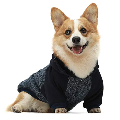 Fitwarm Knitted Pet Winter Clothes Dog Hoodies Coats Cat Hooded Jackets Sweatshirts