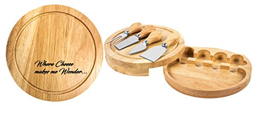 Personalized | Custom Engraved Cheese Board & Knife Tool Set by Sofia's Findings (Image #5)