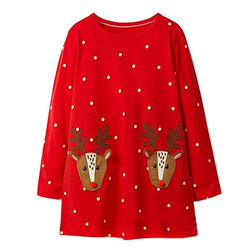 Little Girls Dress Cartoon Cotton Kids Summer Unicorn Dress (4T, Gds385) -