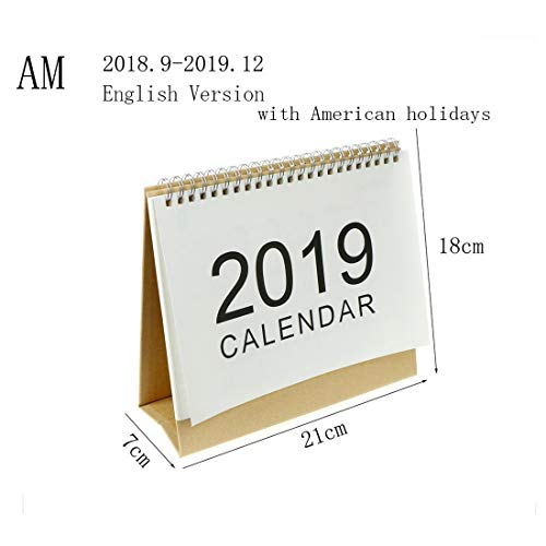 2018-2019 Monthly Yearly Desk Pad Calendar with Daily Planner & to Do List Notepad Academic Year Planning (Runs from October 2018 Through December 2019) (M 8.27x2.95x7.5 Inch) by Mega Shop