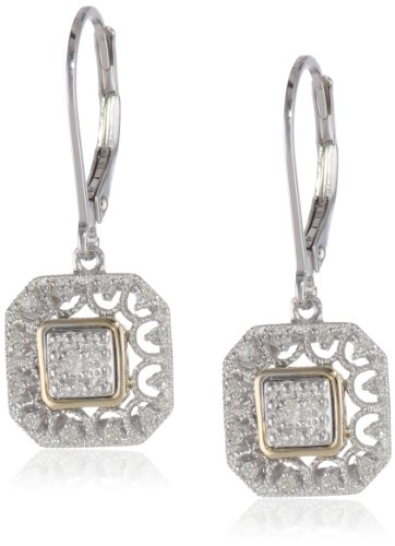 Sterling Silver Yellow Diamond Earrings product image
