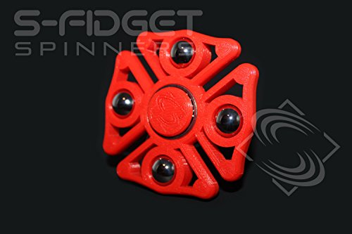 red-maltese-cross-fidget-spinner-the-fire-fighter-with-metal-balls-tri-spinner-edc-desk-toy-brands-f