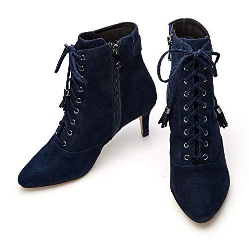 Moda Marino In Chelsea Mujer Pelle Botines Azul PYPTaxvrH