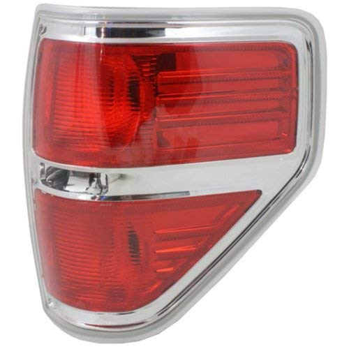 Tail Light compatible with F-150 09-14 Right Side Lens and Housing Styleside CAPA