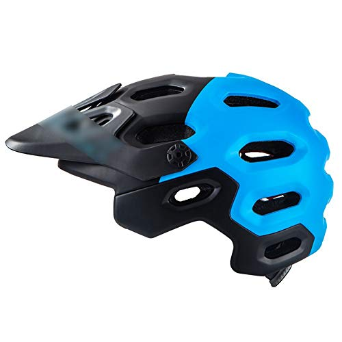 - GENGXIN-GONG-GAO Mountain Bike Rally Sprint Adult Adult Unisex Road Bike Sun Visor Hard Hat Protector Riding Helmet,Blue,L