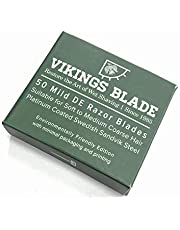 Vikings Blade Swedish Steel Replacement Razor Blades 50 Count (9 to 12 Months Supply) Mild & Safe
