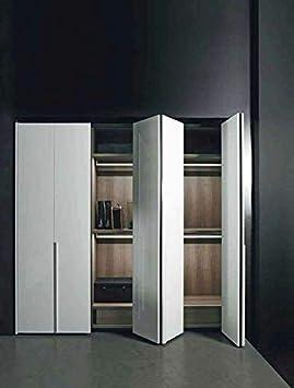 Investiux - Kit de ferretería deslizante para puertas de muebles, armarios, armario plegable con nueva opción Soft