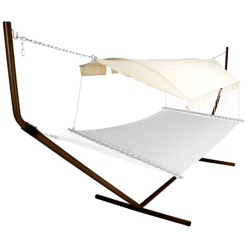 [해외](Tan) 자연 캐노피 색상 및 청동지지 폴이있는 Pawley 's Island 해먹 캐노피/Pawley`s Island Hammock Canopy with Tan Natural Canopy Color and Bronze Support Poles
