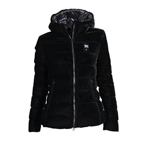 Blauer USA Damen Daunenjacke mit Samt in Schwarz S|999 Nero
