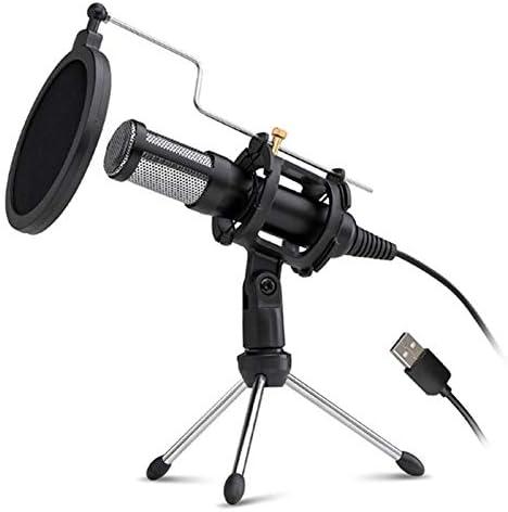 ACAMPTAR Professional USB Microphone Condenser Microphone Computer Microphone Conference Voice PS4 Gaming Microphone USB MIC for Conference Computer