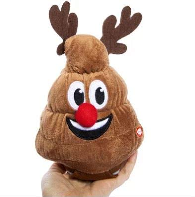 peanuts art Animated Poop Christmas Plush Toy Dances Plays Jingle Bells Reindeer Poop Collectibles