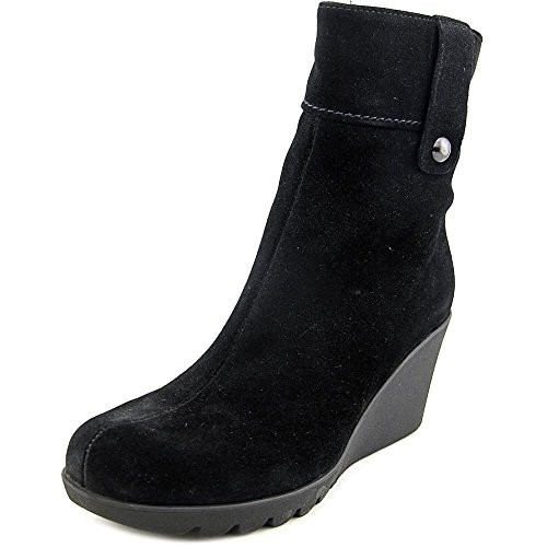La Canadienne Suede Wedges - La Canadienne Women's Bridgette Ankle Boot,Black,8 M US