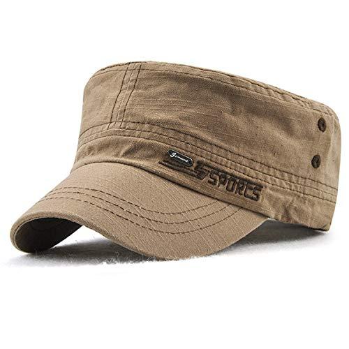 M MOACC Men's Unique Design Flat Cap Washed Cotton Vintage Caps (Hat-t4-coffee)