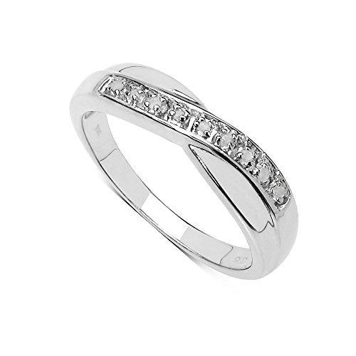 The Diamond Ring Collection: Beautiful Channel Set 0.04Ct Diamond Crossover...
