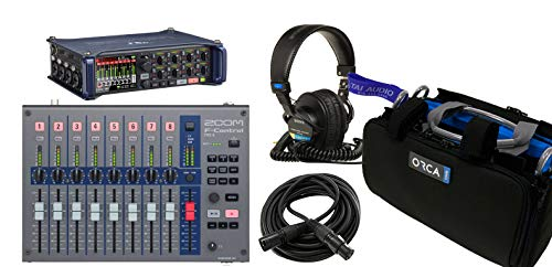 Zoom F8n Multitrack Field Recorder Bundle with Zoom F-Control Mixing Surface, Orca OR-27 Mixer Bag, Sony MDR7506 Headphones & XLR Cable