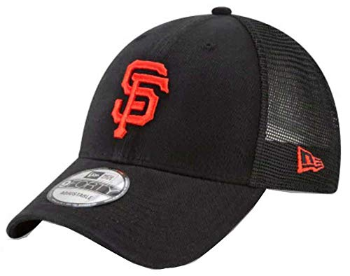 New Era 9Forty Hat MLB San Francisco Giants Black Trucker Adjustable Cap ()