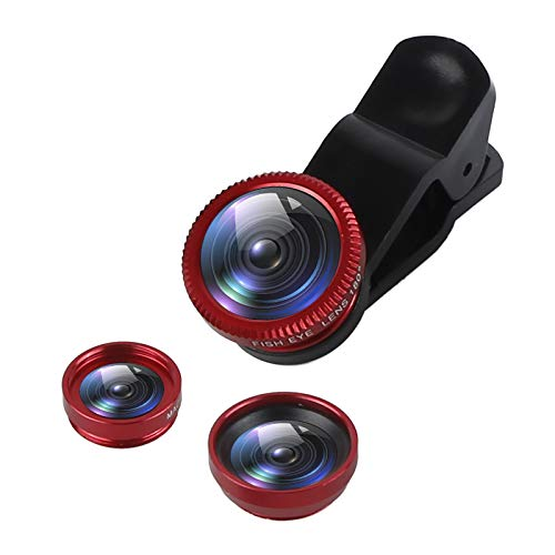 Bigmai 3 in 1 Phone Lens Kit - Macro Lens,Wide Angle Lens,Fisheye, Clip-On Cell Phone Camera Lenses for iPhone Android Samsung Mobile Phones and Tablets (red) by Bigmai (Image #9)