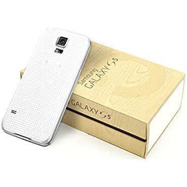 Samsung Galaxy S5 G900A 16GB AT&T + Unlocked GSM 4G LTE 16MP Camera Smartphone w/ 16MP Camera Shimmery White (Certified Refurbished)