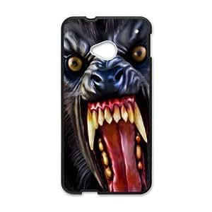 HTC One M7 Case, Werewolf HTC One M7 Cell phone case Black-PAAQ7557874