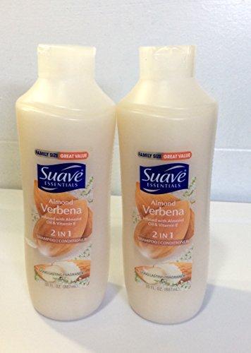 2pck - Suave Essentials Almond Verbena 2 in 1 Shampoo Conditioner 30 fl. oz. by Suave