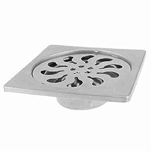 Square stainless steel shower floor drain for 12 inch floor drain cover
