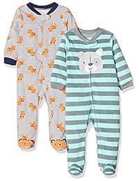 Simple Joys by Carter´s- Mameluco para dormir y jugar de niño, paquete de 2.