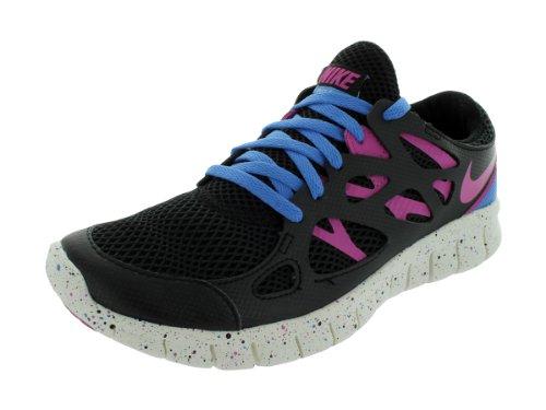 Nike Womens Free Run 2 Ext Scarpe Da Corsa Nere / Club Pink-distinte Blu-summit Bianche