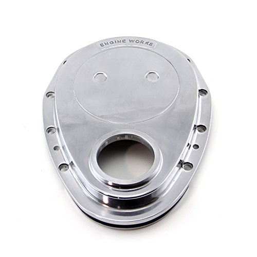 (Procomp Electronics PCE265.1012 Chevy SBC 350 Aluminum Timing Chain Cover Polished (Ew Logo) 1-Piece)