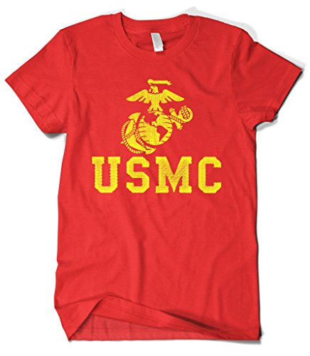 Cybertela Men's United States Marine Corps USMC T-Shirt (Red, X-Large)